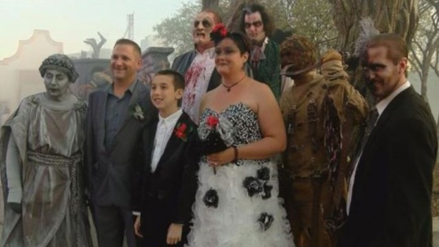 Couple Hold Zombie Wedding At Carowinds For Autistic Son