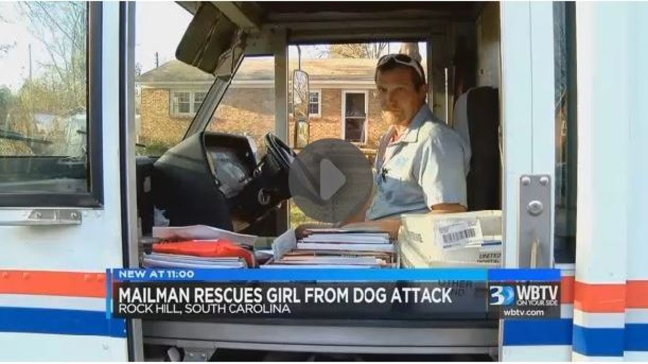 Mail carrier in SC credited for saving little girl from dog attack