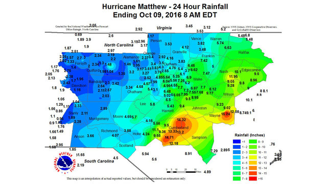 Fuquay Varina Zip Code Map.Nc Rainfall Totals By County And Town From Hurricane Matthew