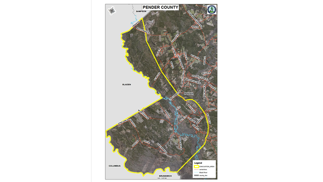 Pender County Nc Map.Mandatory Evacuation In Pender County As Black River Continues To Rise