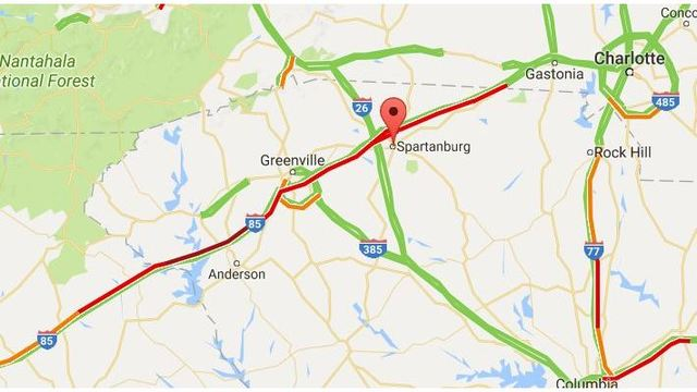 Nearly 100 Mile Traffic Backup On I 85 In Sc After Eclipse