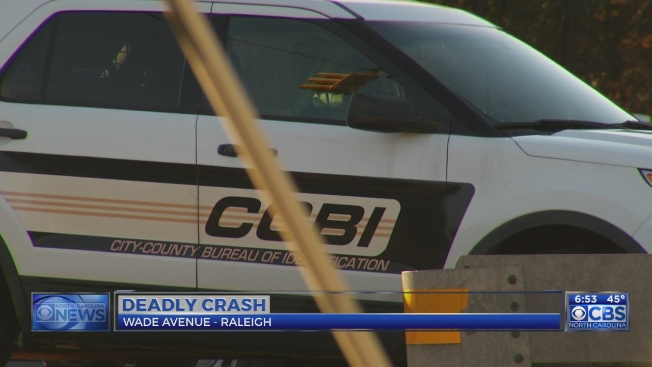 Chapel Hill man dead after vehicle crashes into truck on Raleigh's Wade Avenue