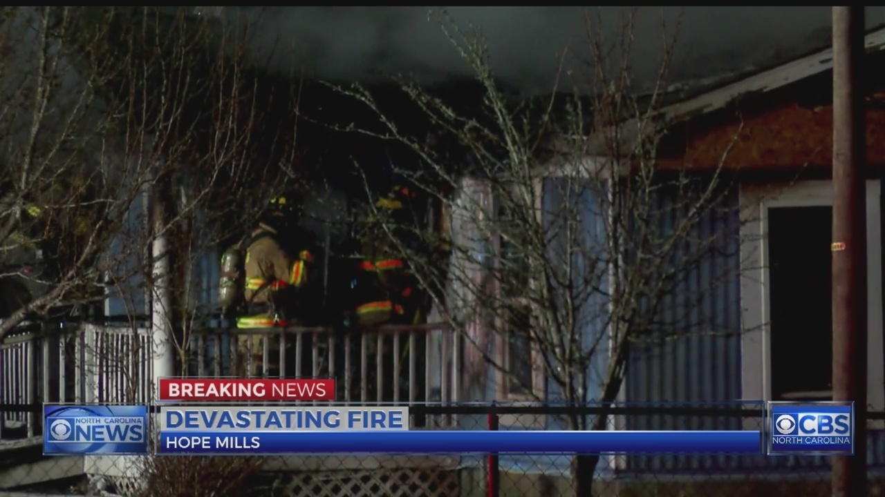 9 people displaced, 3 dogs missing after Hope Mills home burns