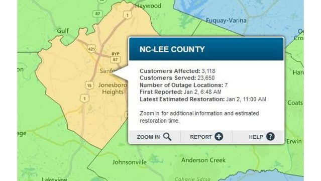 Power Restored To 5 000 Lee County Customers Without Electricity