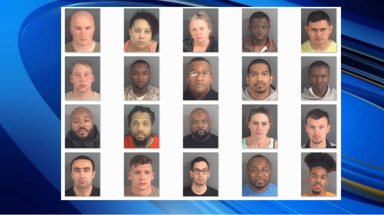 20 Arrested In Fayetteville Prostitution Sting