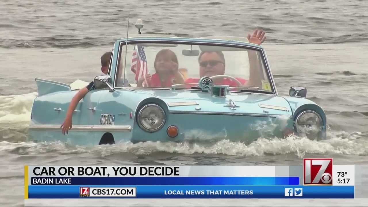 no need to call 911, this car is supposed to be driving into nc lake