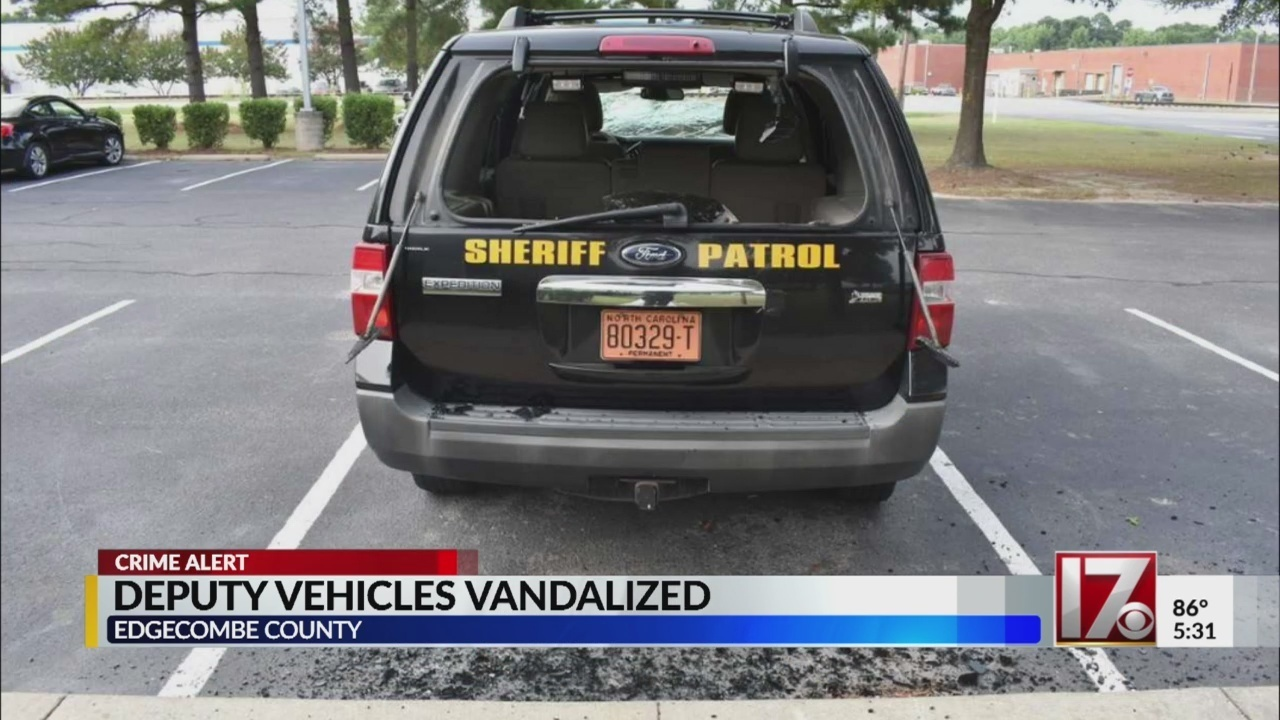 NC man caught in act of vandalizing deputy vehicles, says he