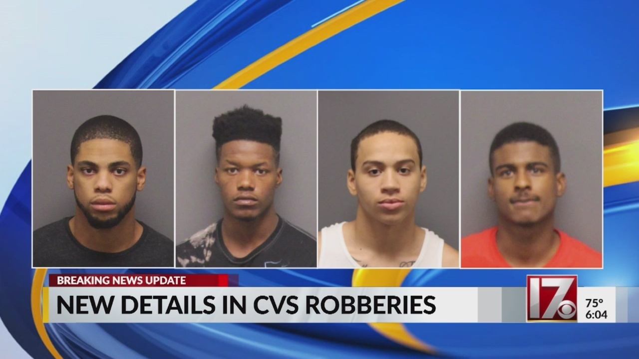 arrests made in raleigh cvs robbery now linked to chapel hill theft