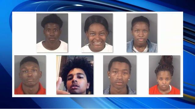 7 charged in robbery spree at cellphone stores in Fayetteville, police say