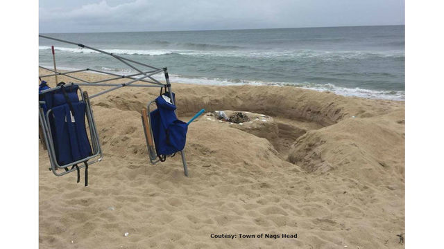Outer Banks officials: Don't dig massive holes on the beach