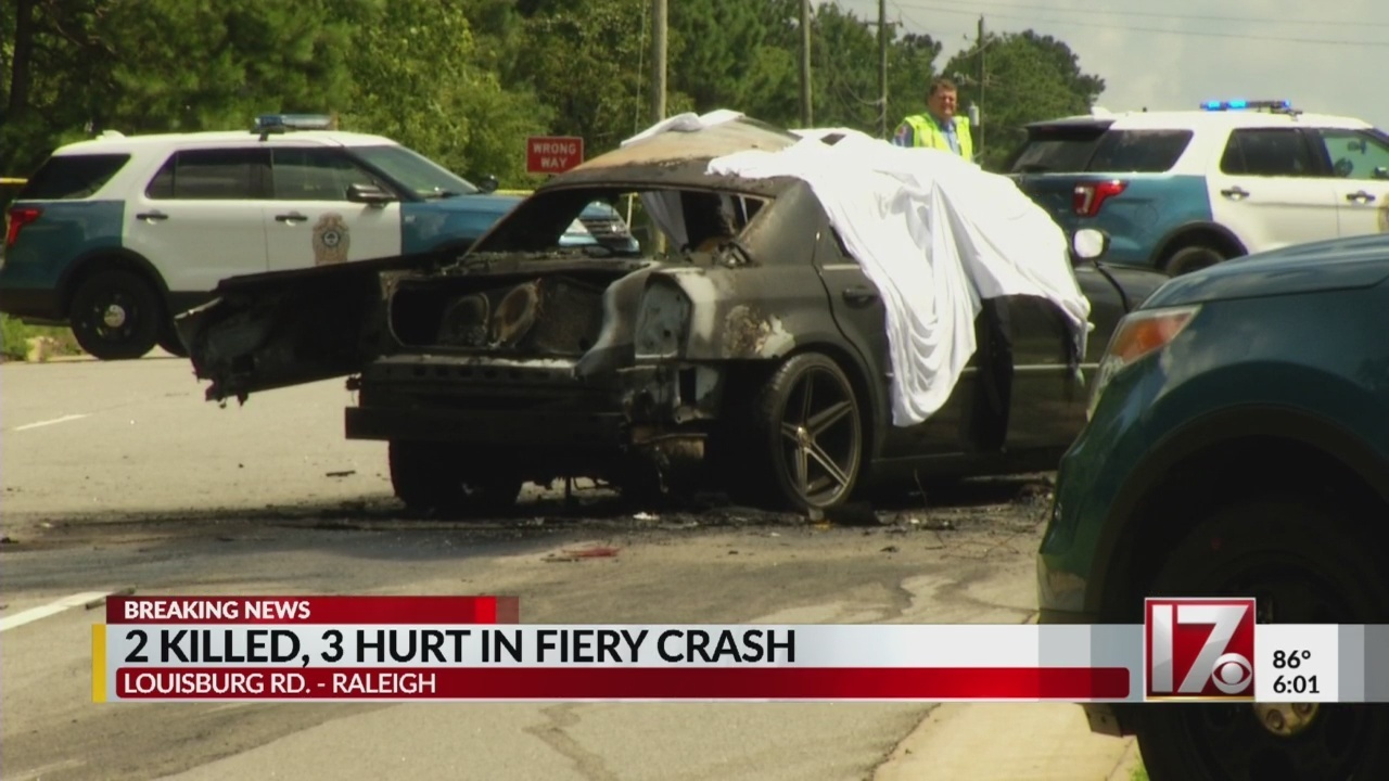 2 dead, 3 injured in crash on louisburg road, raleigh police now say