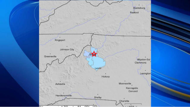 Earthquake rattles parts of NC mountains