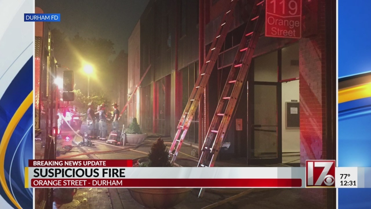 Suspicious Fire Reported At Building Housing Durham Probation