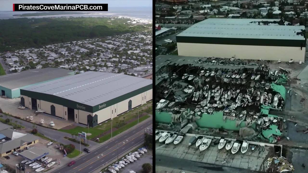 a look at pirates cove marina in panama city fl before and after