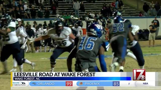 Wake Forest's title defense continues with 41-10 win over Leesville Road