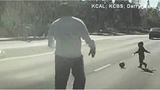 CAUGHT ON CAMERA: Retired officer rescues toddler playing in road