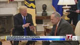 The shutdown today: Candy and a walkout by the president