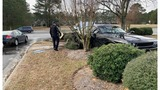 Car chase after robbery ends in crash near NC high school