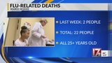 2 new flu deaths reported in NC&#x3b; total climbs to 22 for season