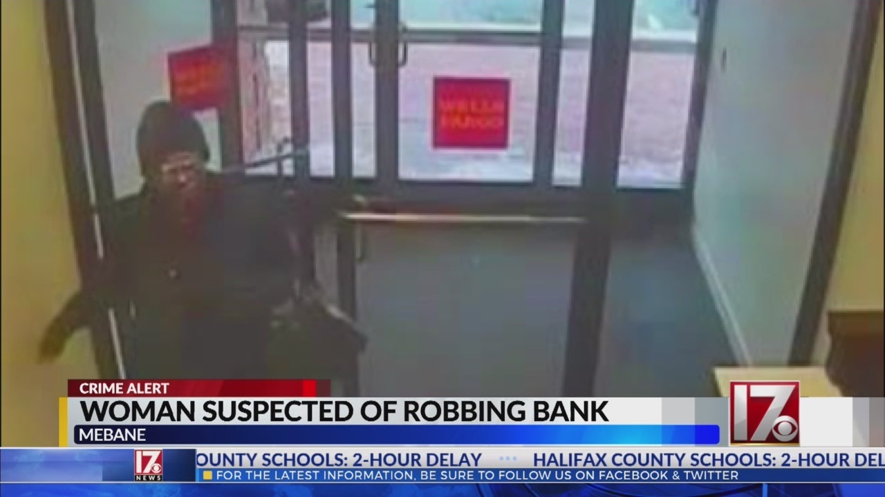 Woman robs Wells Fargo bank in Mebane, police say