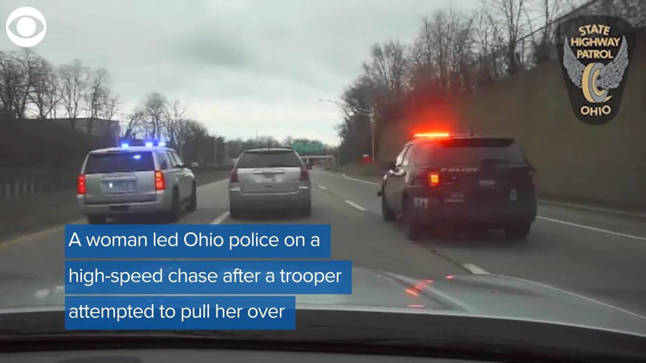 WEB EXTRA: Newly released police video shows woman leading police on