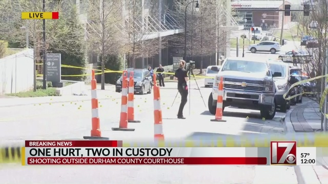 Victim shot multiple times in front of Durham courthouse