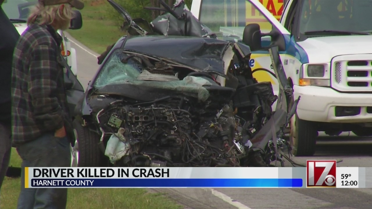 Driver killed after slamming car head-on into dump truck in Harnett