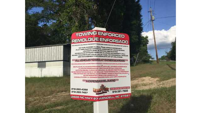 Raleigh mobile home park residents say their cars are being towed for trivial violations