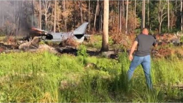 Marine Corps Harrier jet from Cherry Point crashes in NC