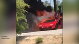 VIDEO: Lamborghini and SUV go up in flames at NC Walmart gas station