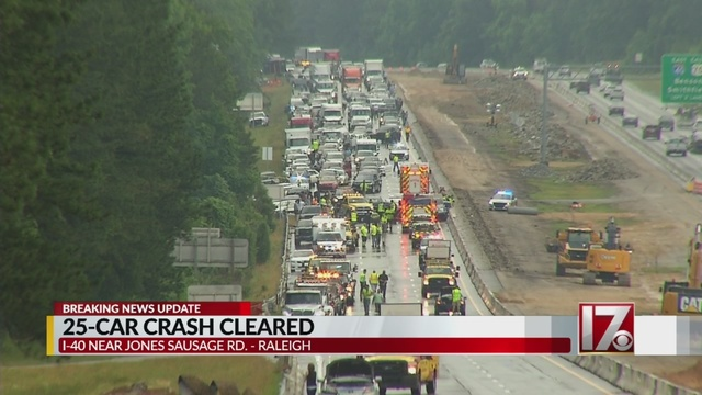 Interstate 40 reopened following crash involving 25 vehicles