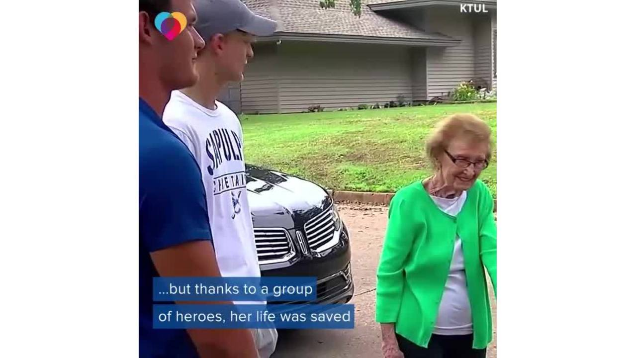 Four teenage boys save 90-year-old woman from burning house